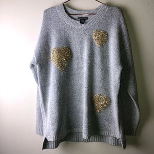 Chelsea & Theodore Gold Heart Sweater